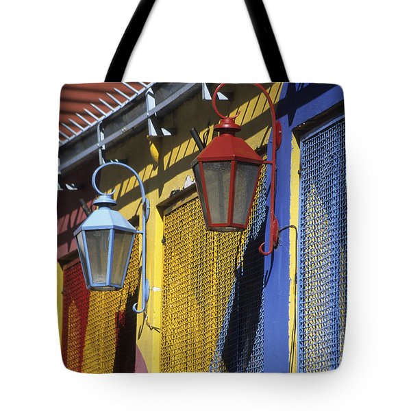 Colourful Lamps La Boca Buenos Aires Tote Bag by James Brunker