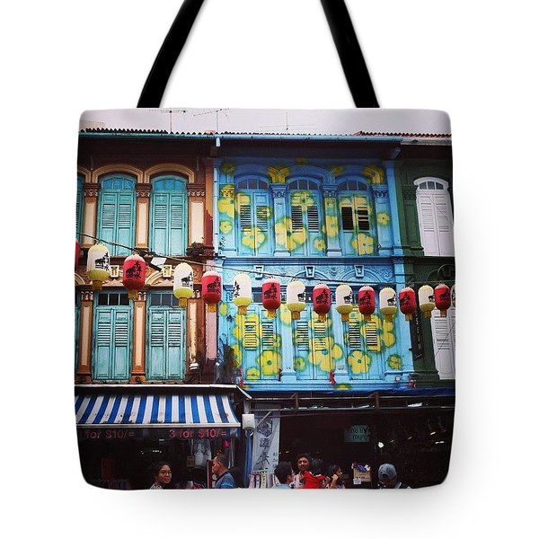 Colourful Singapore Tote Bag