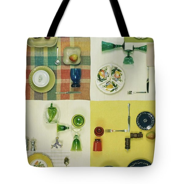 Colourful Table Settings Tote Bag