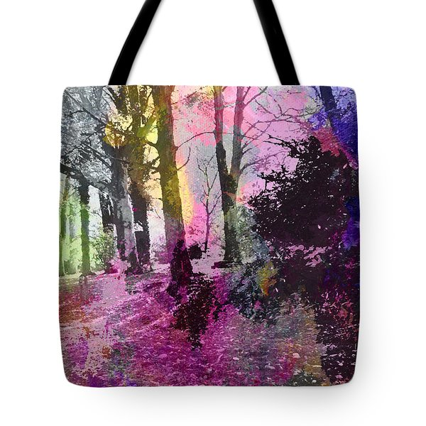Colourful Wood Tote Bag