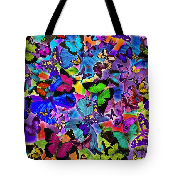 Colours Of Butterflies Tote Bag by Alixandra Mullins