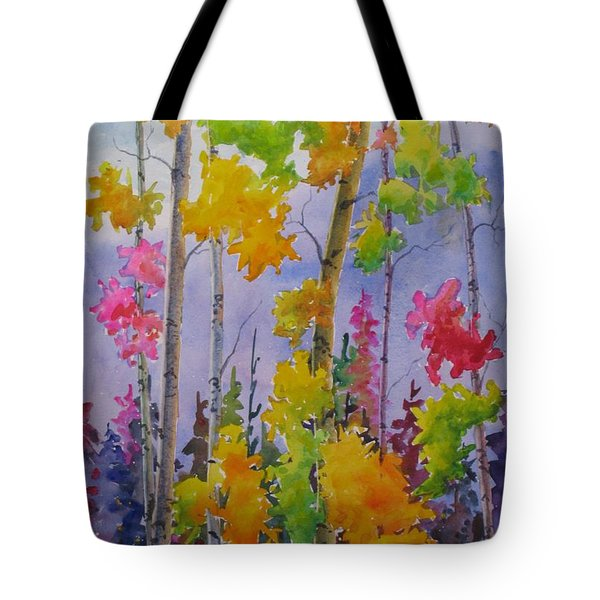 Colours Of Fall Tote Bag by Mohamed Hirji