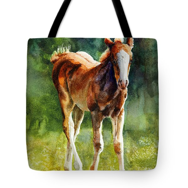 Colt In Green Pastures Tote Bag