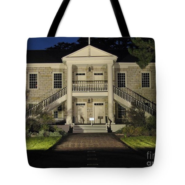 Tote Bag featuring the photograph Colton Hall At Night by James B Toy