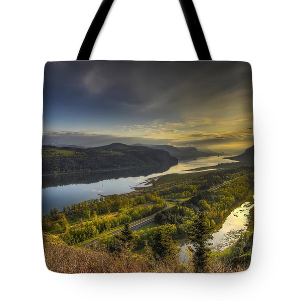 Columbia River Gorge At Sunrise Tote Bag