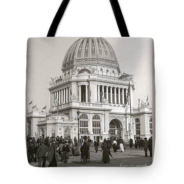 Tote Bag featuring the photograph Columbian Exposition Chocolat 1893 by Martin Konopacki Restoration