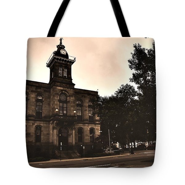 Tote Bag featuring the photograph Columbiana County Courthouse by Michelle Joseph-Long
