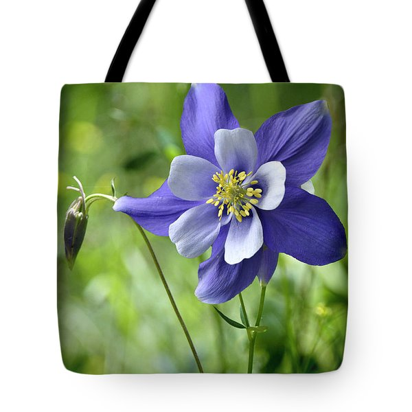 Columbine Card  Tote Bag