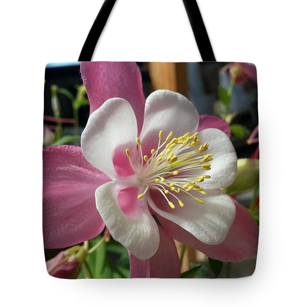 Tote Bag featuring the photograph Columbine by Caryl J Bohn