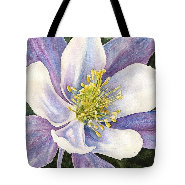 Columbine Closeup Tote Bag