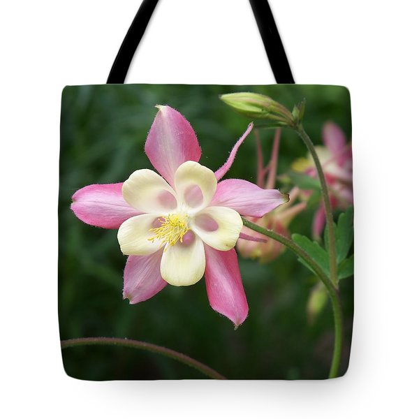 Tote Bag featuring the photograph Columbine by Kathryn Meyer