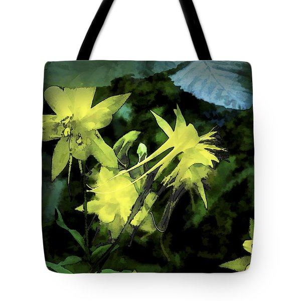 Columbines Painterly Tote Bag