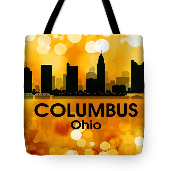 Columbus Oh 3 Tote Bag by Angelina Vick