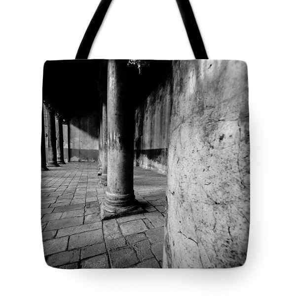 Columns At The Church Of Nativity Tote Bag by David Morefield