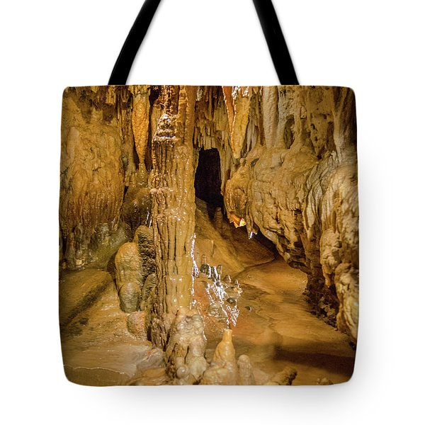 Columns In The Caves Tote Bag by Jonah  Anderson