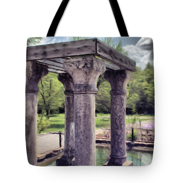Columns In The Water Tote Bag
