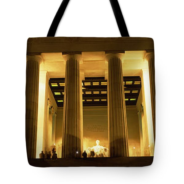Columns Surrounding A Memorial, Lincoln Tote Bag by Panoramic Images