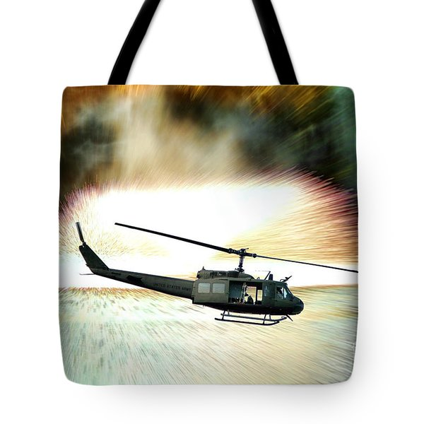 Combat Helicopter Tote Bag