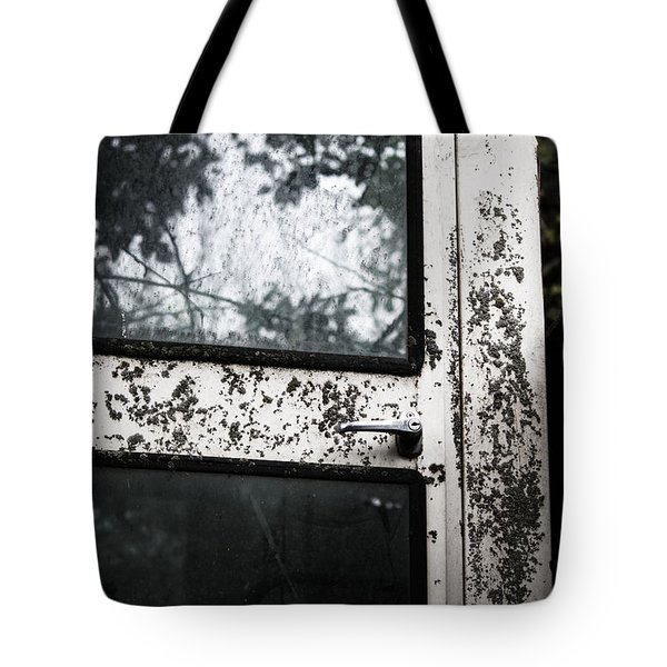 Tote Bag featuring the photograph Combine Reflection by Rebecca Davis
