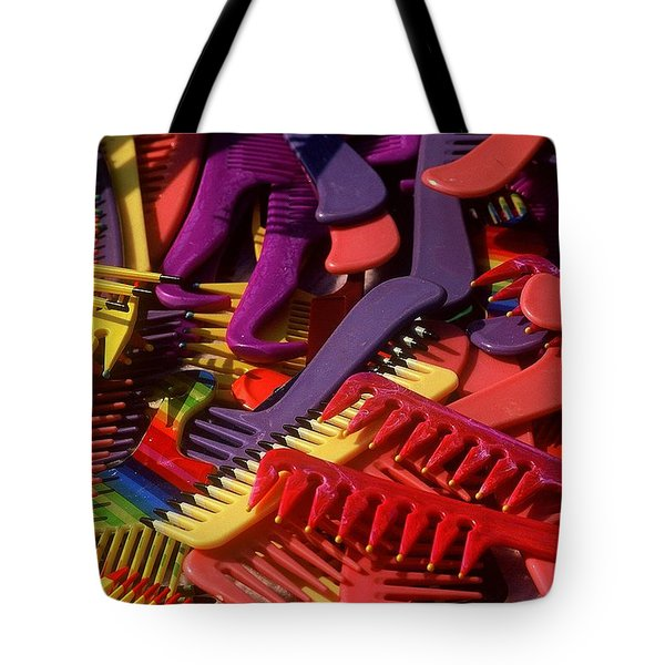 Tote Bag featuring the photograph Combs by Rodney Lee Williams