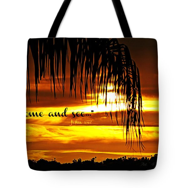 Come And See Tote Bag by Sharon Soberon
