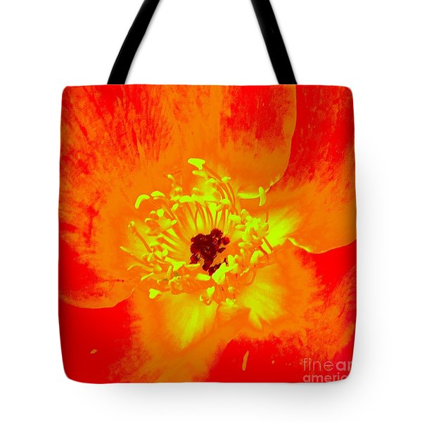 Come Closer Rose Tote Bag by Ann Johndro-Collins