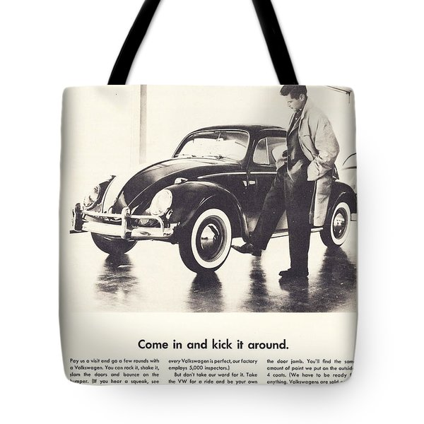 Come In And Kick It Around Tote Bag by Georgia Fowler