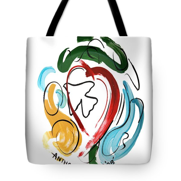 Tote Bag featuring the painting Come Into My Heart by Anthony Falbo