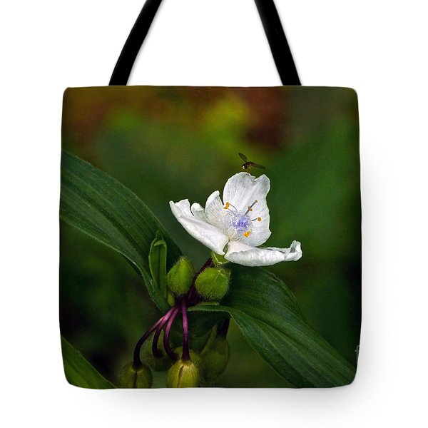 Come Into My Parlor Said The Spiderwort To The Hoverfly Tote Bag