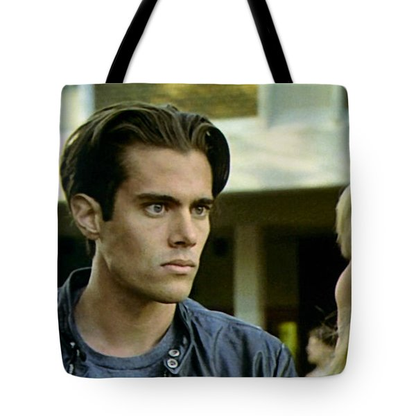 Tote Bag featuring the painting Come On Bobby by Luis Ludzska