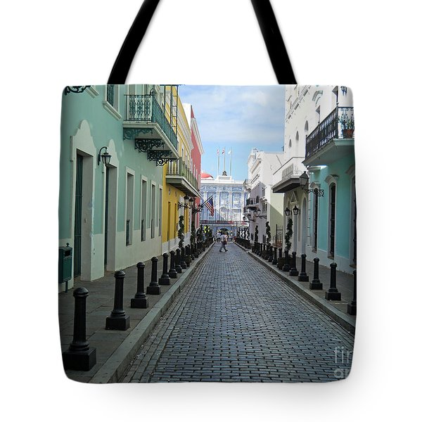Tote Bag featuring the photograph San Juan Puerto Rico by Roberta Byram