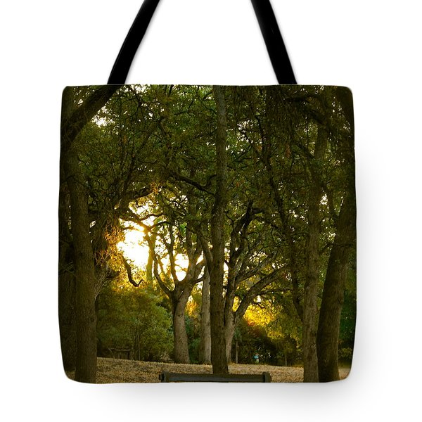 Come Sit Awhile Tote Bag