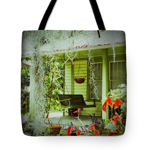 Come Sit Awhile Tote Bag by Patricia Greer