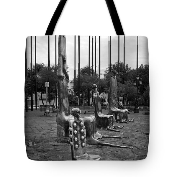 Come Sit With Us Tote Bag by Lynn Palmer