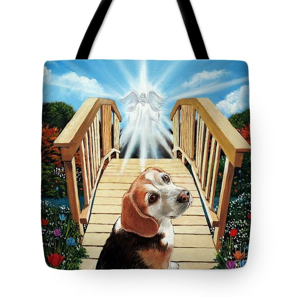Come Walk With Me Over The Rainbow Bridge Tote Bag
