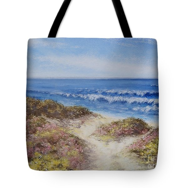 Tote Bag featuring the painting Come With Me by Stanza Widen