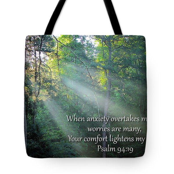 Tote Bag featuring the photograph Comfort by Greg Simmons