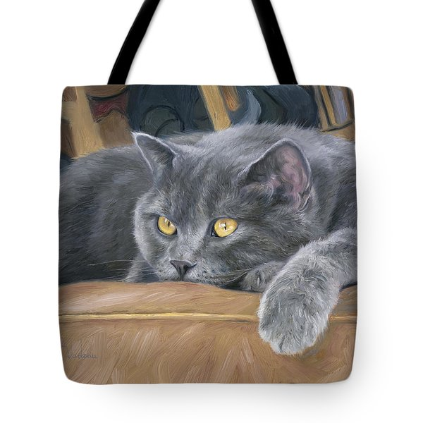 Comfortable Tote Bag by Lucie Bilodeau