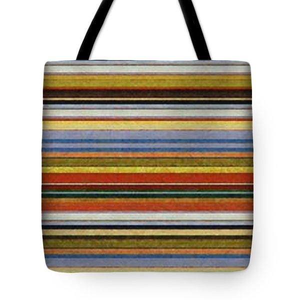 Comfortable Stripes Vll Tote Bag by Michelle Calkins