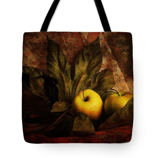 Comfy Apples Tote Bag by Randi Grace Nilsberg