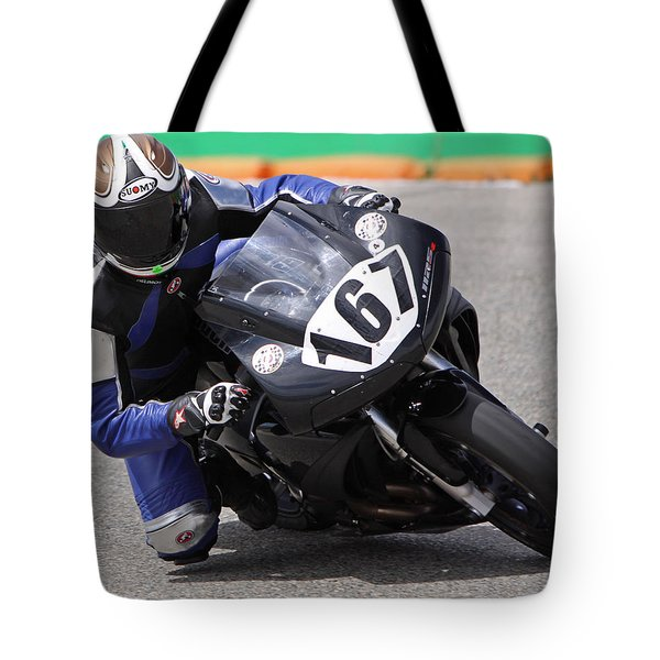 Tote Bag featuring the pyrography Coming Into The Curve by Shoal Hollingsworth