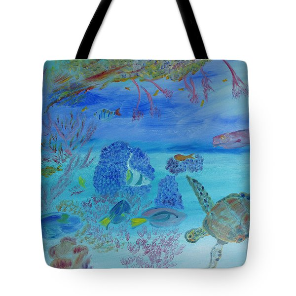 Coming Out Of My Shell Tote Bag by Meryl Goudey