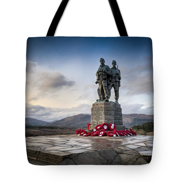 Commando Memorial At Spean Bridge Tote Bag by Gary Eason