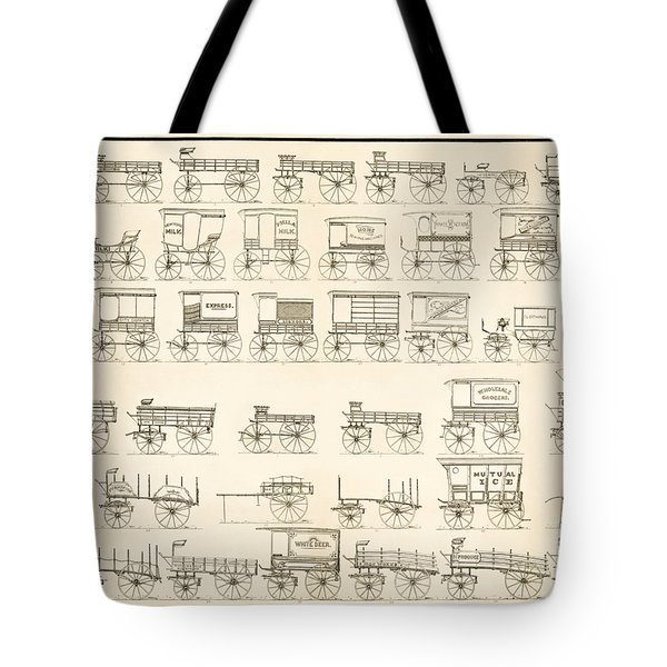 Commercial Wagons  1881 Tote Bag by Daniel Hagerman