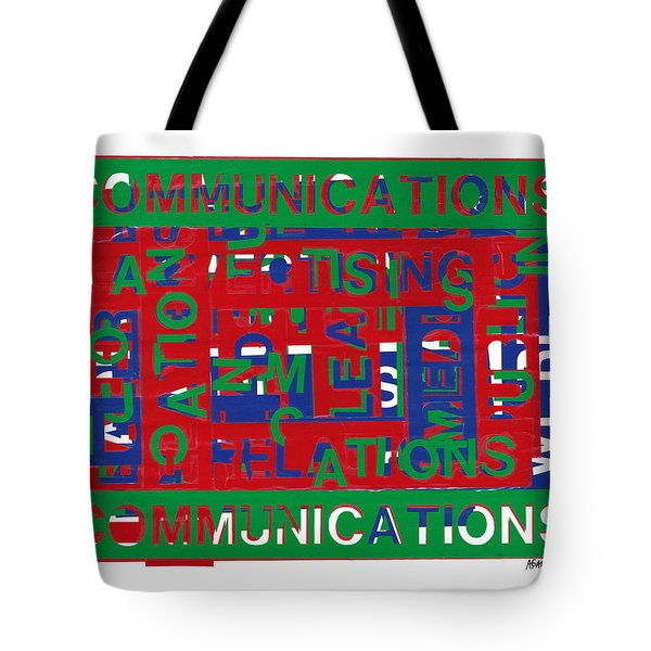 Communications Breakdown Tote Bag by Agustin Goba