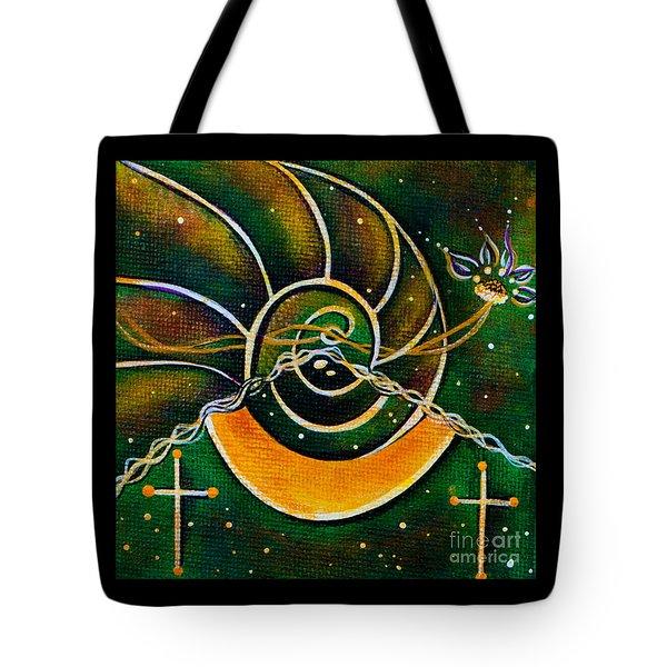 Tote Bag featuring the painting Communicator Spirit Eye by Deborha Kerr