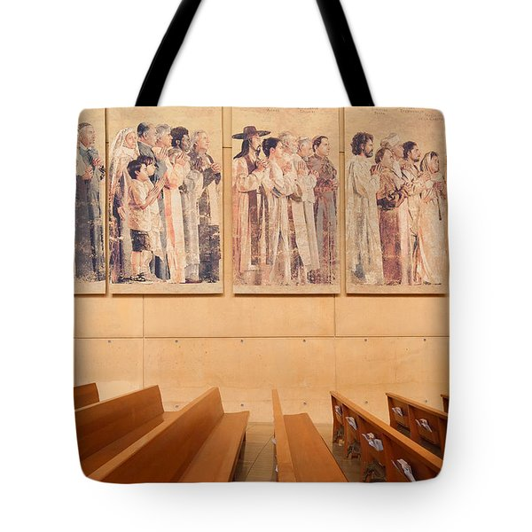 Tote Bag featuring the photograph Communion Of Saints - Cathedral Of Our Lady Of The Angels Los Angeles California by Ram Vasudev