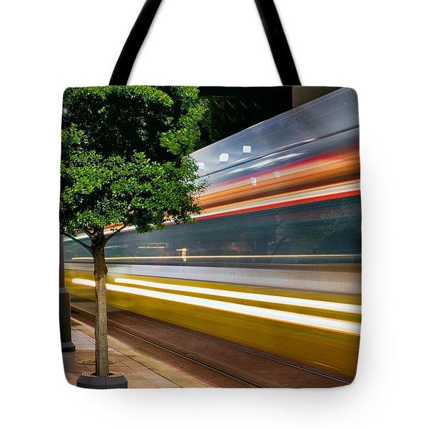 Dallas Commuter Train 052214 Tote Bag