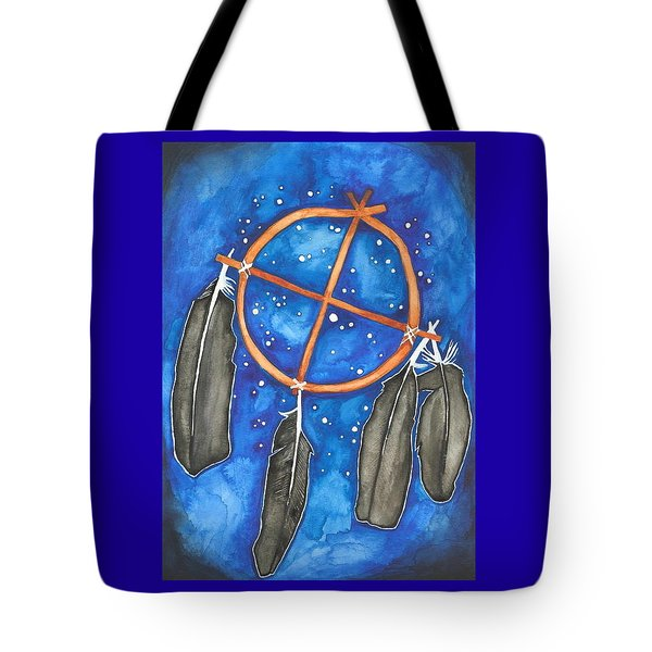 Compass Dreamcatcher Tote Bag by Cat Athena Louise