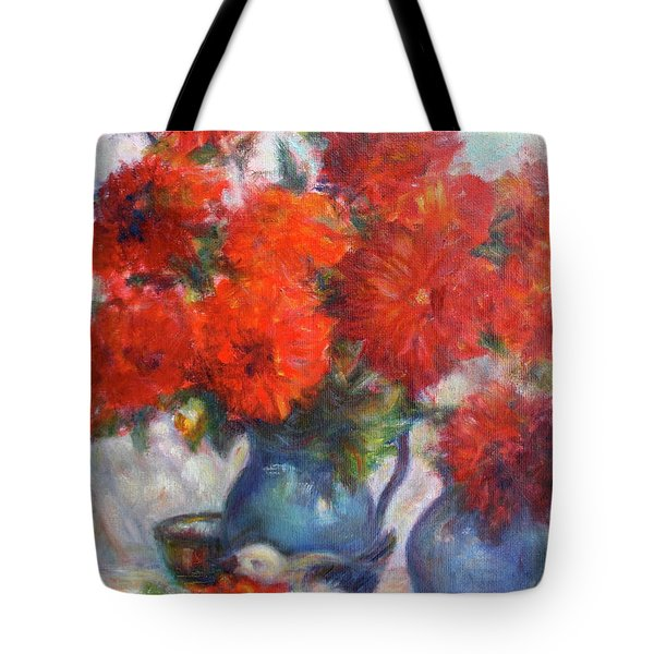 Complementary - Original Impressionist Painting - Still-life - Vibrant - Contemporary Tote Bag
